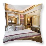 Luxury Bedroom Throw Pillow