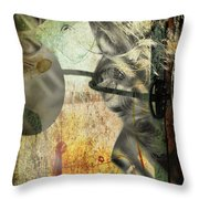 Lying Right  Throw Pillow