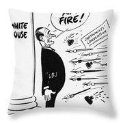 Lyndon B. Johnson: Cartoon Throw Pillow by Granger