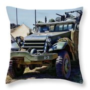 M-2 Half-track Throw Pillow