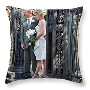 M And J 01 Throw Pillow