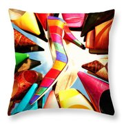 M-m-m My Stilettos Throw Pillow