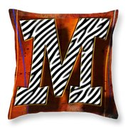 M Throw Pillow by Mauro Celotti