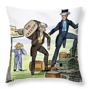 M. Van Buren: Cartoon, 1840 Throw Pillow