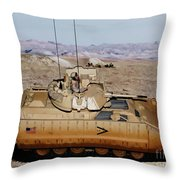 M2 Bradley Fighting Vehicle Throw Pillow
