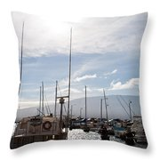 Ma'alaea Marina Throw Pillow