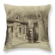 Mabel's Gate As Antique Print Throw Pillow