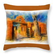 Mabel's Gate Watercolor Throw Pillow