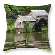 Mabry Mill  Virginia Throw Pillow