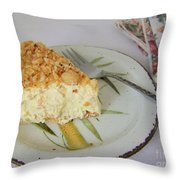 Macadamia Nut Cream Pie Slice Throw Pillow