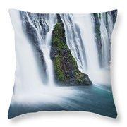 Macarthur-burney Falls 1 Throw Pillow