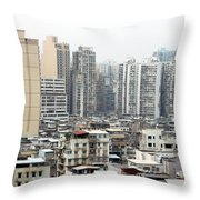 Macau View Throw Pillow