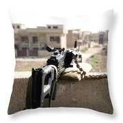 Machine Gun Post At A Prison Throw Pillow