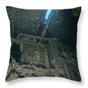 Machinery Inside Of The Seven Skies Throw Pillow