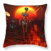 Machines Rise To Take Their Place Throw Pillow by Mark Stevenson