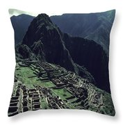 Machu Picchu, A Pre-columian Inca Ruin Throw Pillow