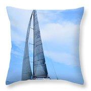 Mackinac Race Throw Pillow