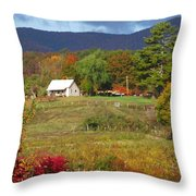 Mack's Farm In The Fall 2 Filtered Throw Pillow