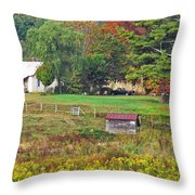 Mack's Farm In The Fall Throw Pillow
