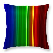 Macro Bromine Spectra Throw Pillow