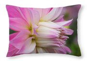 Macro Flower Profile Throw Pillow