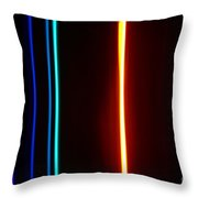 Macro Helium Spectra Throw Pillow