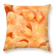 Macro Of Guava Fruit Throw Pillow