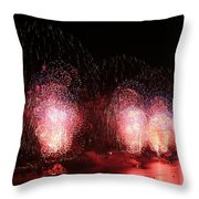 Macy's Fireworks On The Hudson Throw Pillow