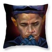 Mad Men Series 1 Of 6 - President Obama The Dark Knight Throw Pillow