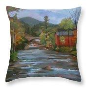 Mad River And Campton Bridge Throw Pillow