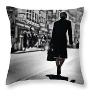 Madame De Bale Throw Pillow