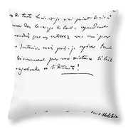 Madame De Stael Letter Throw Pillow