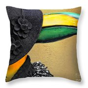 Madame Toucan Of New Orleans Throw Pillow