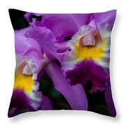Maddie's Orchid Throw Pillow
