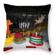 Made Of Ice V4 Throw Pillow