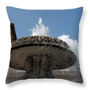 Maderno's Fountain Throw Pillow