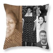Madge's Mother And Grandfather Throw Pillow