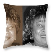 Madge's Sister Aunt Shirley Throw Pillow