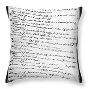 Madison: Account Book Throw Pillow