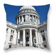 Madison Capitol Building Throw Pillow