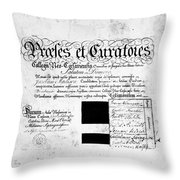 Madison: Diploma, 1772 Throw Pillow
