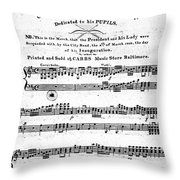 Madison: Inauguration Throw Pillow