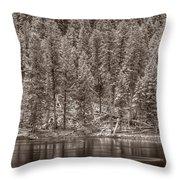 Madison River Yellowstone Bw Throw Pillow