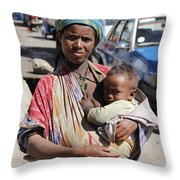 Madonna Of Addis Ababa  Throw Pillow