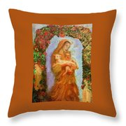 Madonna With Child Throw Pillow