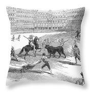 Madrid: Bullfight, 1846 Throw Pillow