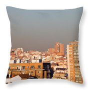 Madrid Cityscape Throw Pillow