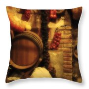 Madrid Food And Wine Still Life II Throw Pillow