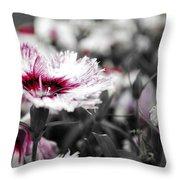 Magenta Flower Throw Pillow