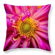 Magenta Petals Throw Pillow